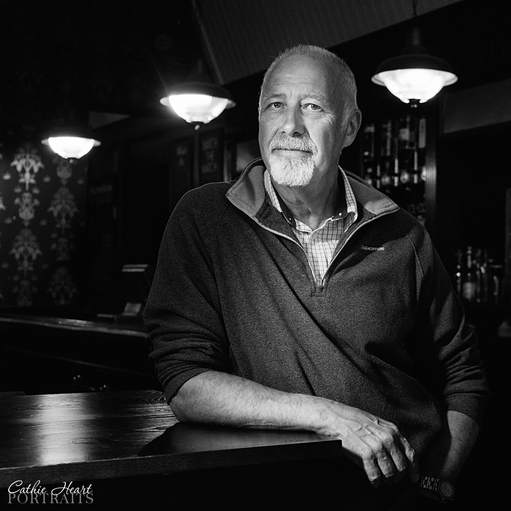 A personal branding portrait of Kevin, inside a pub in York.